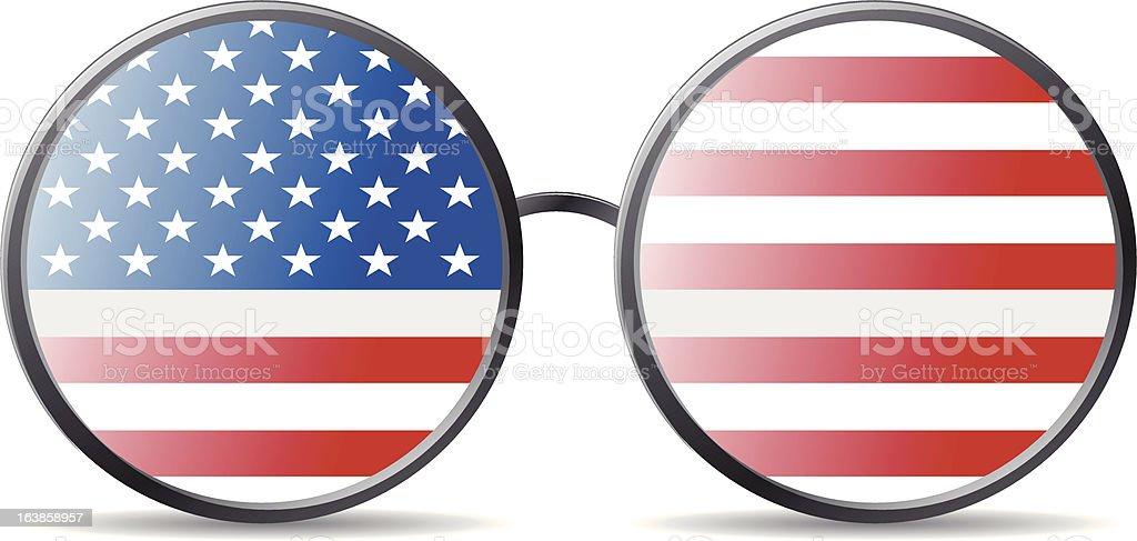 Amerykańska flaga stockowa ilustracja wektorowa royalty-free