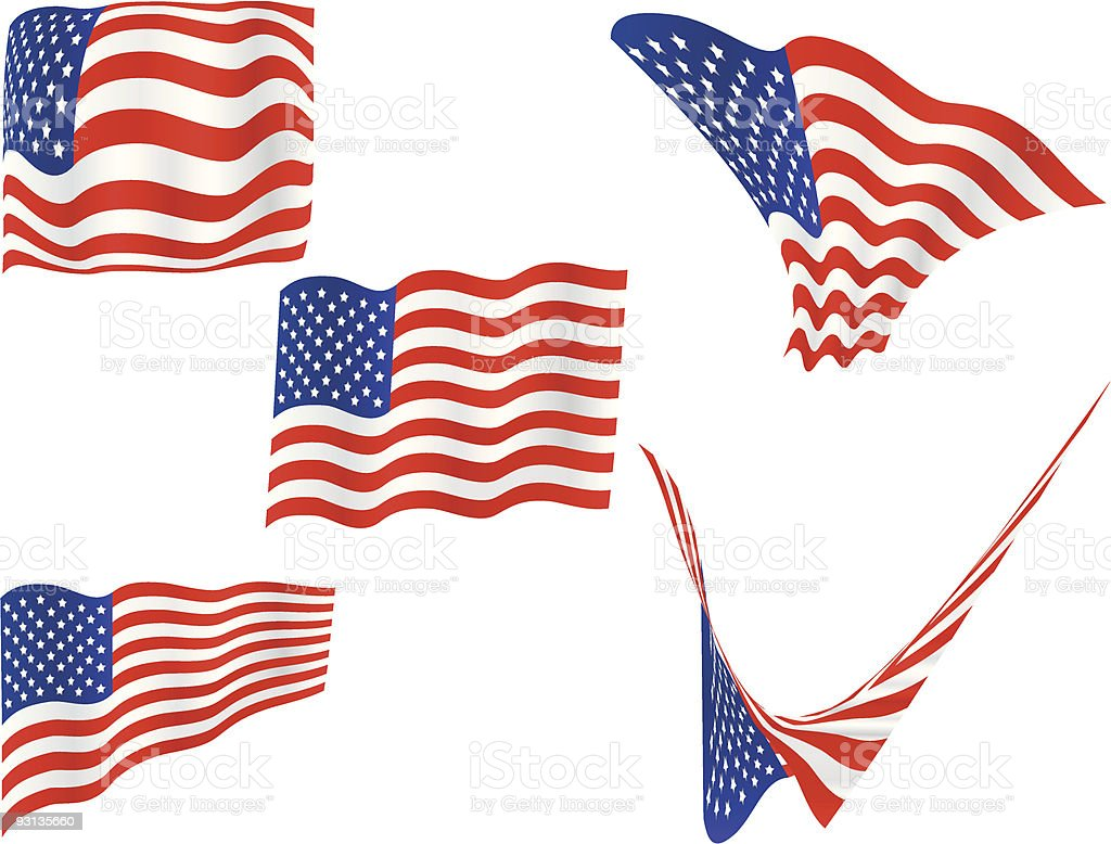 American Flag Vector Images royalty-free stock vector art