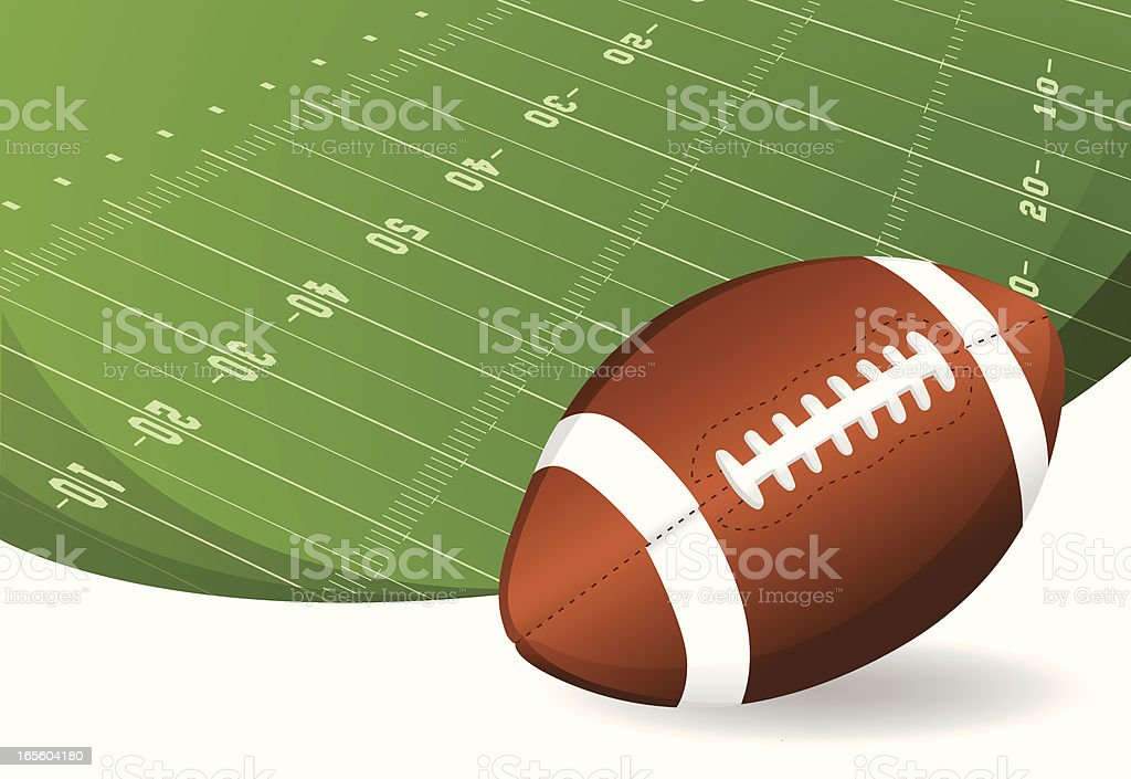 American Football Background royalty-free stock vector art