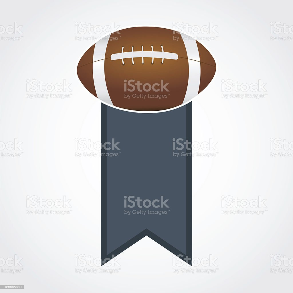 American football banner - raster image royalty-free stock vector art