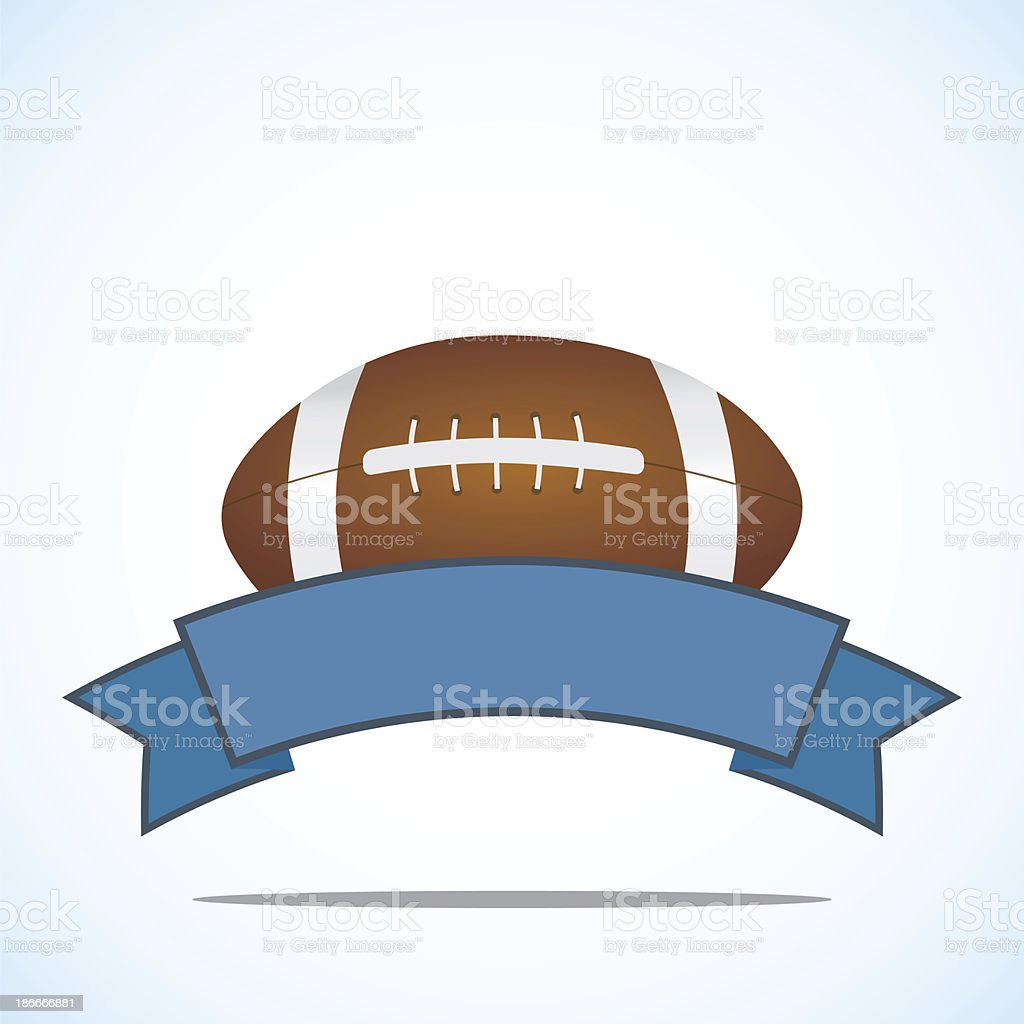 American football banner - raster image royalty-free stock vector art
