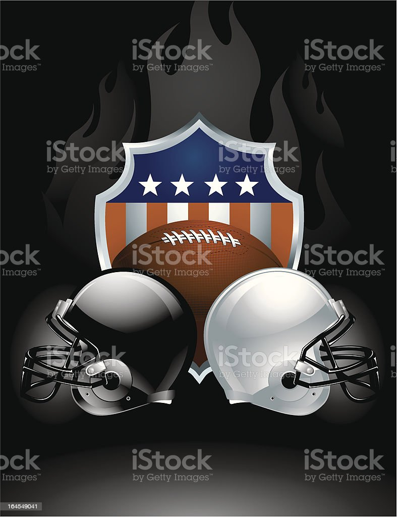 American Football Crest vector art illustration