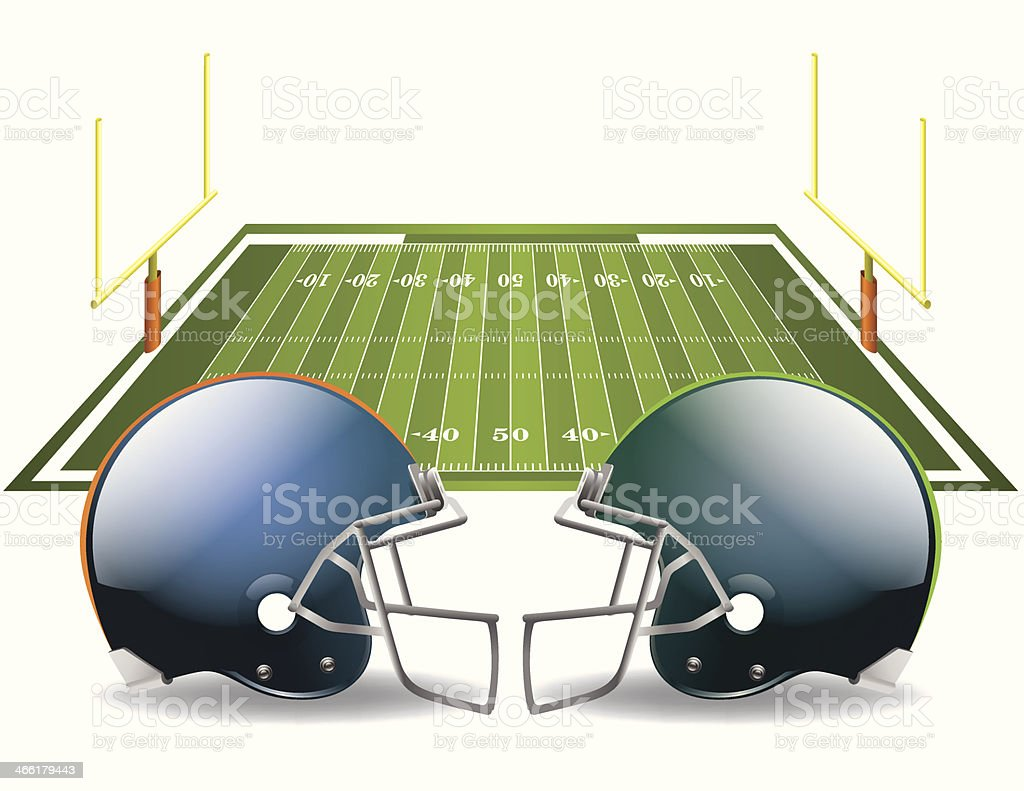 American Football Vectors on a white background vector art illustration