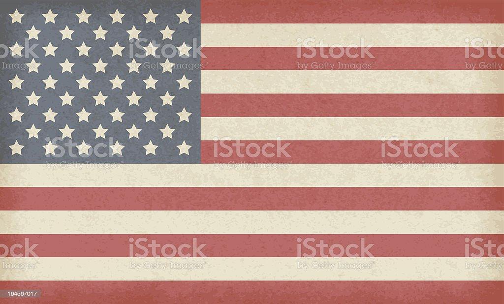 American grunge flag royalty-free stock vector art