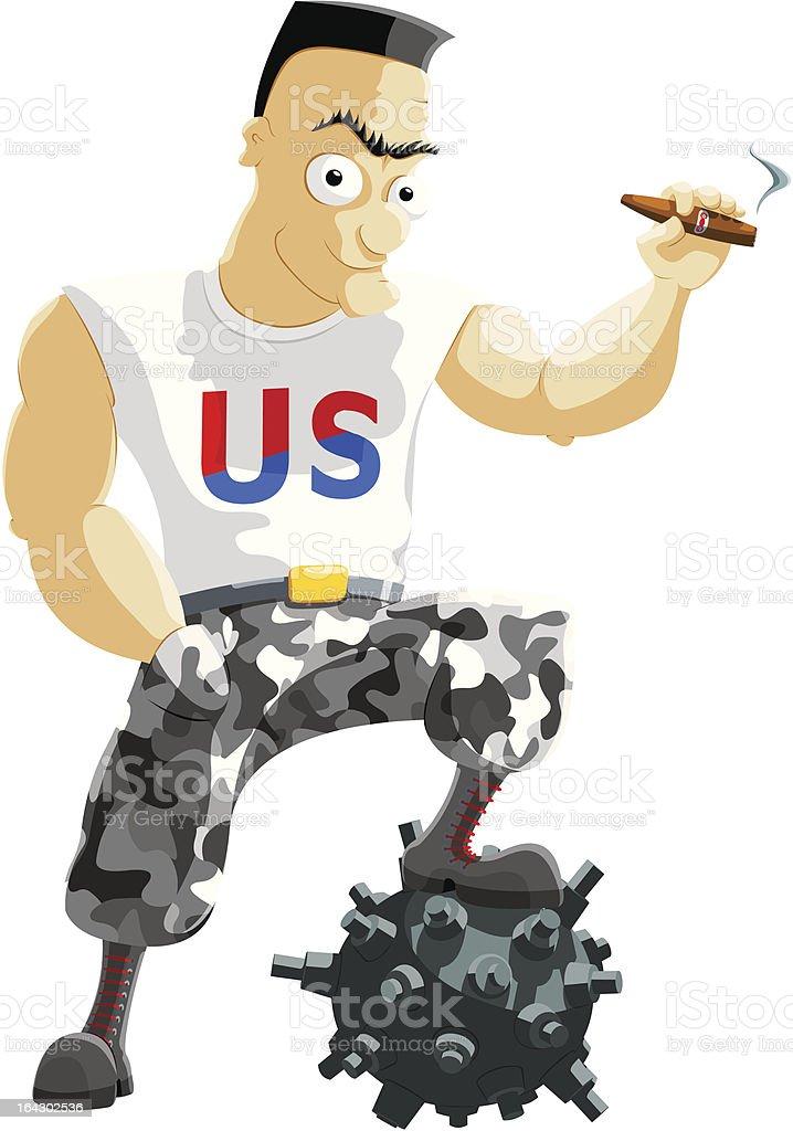 American Hero royalty-free stock vector art