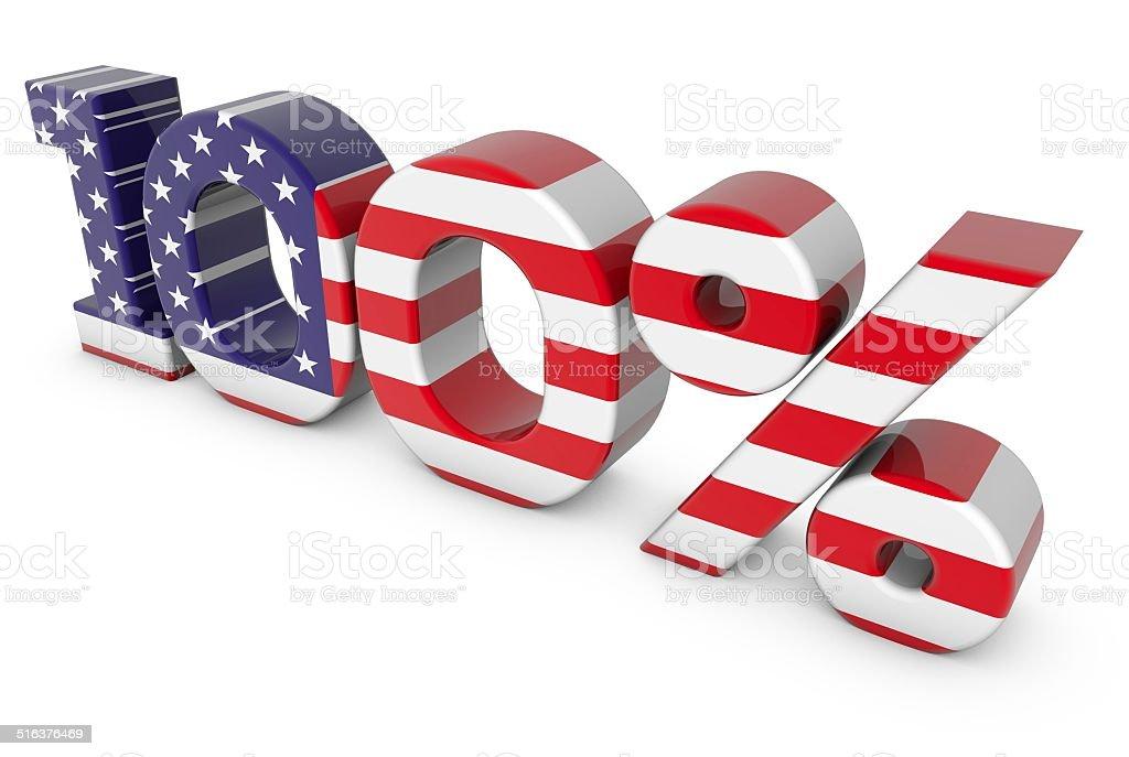 100% American vector art illustration