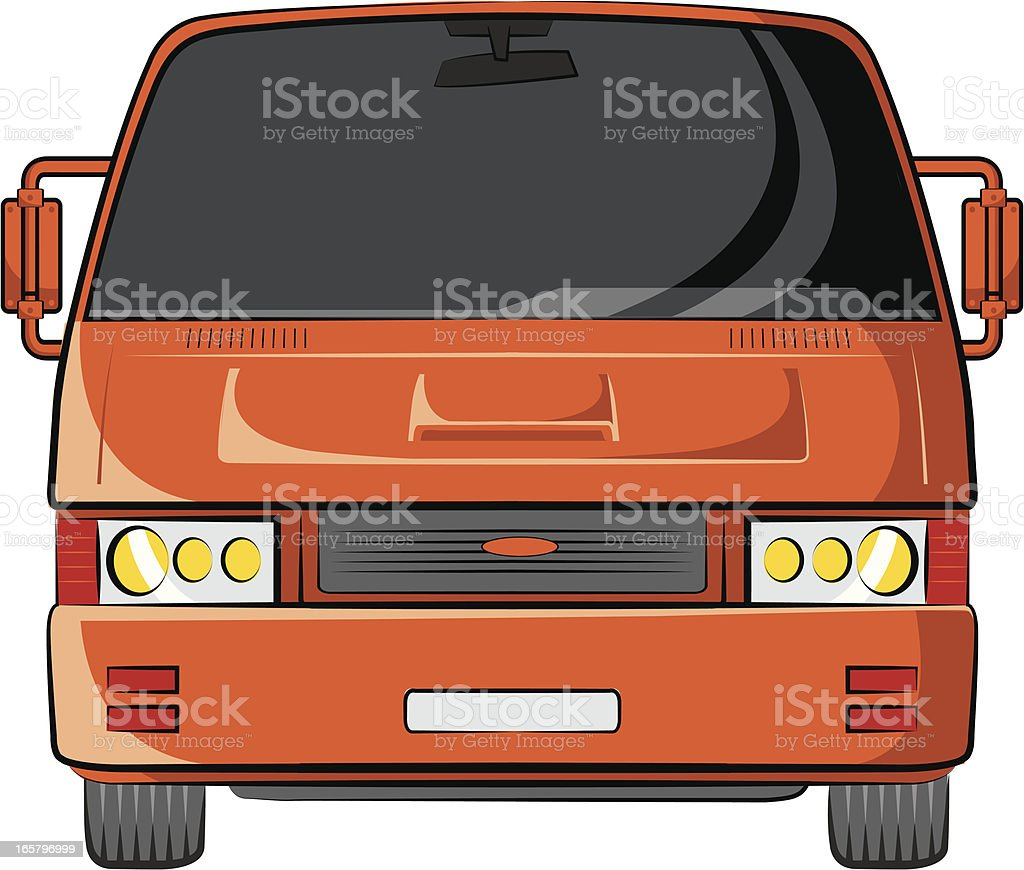 american minibus royalty-free stock vector art