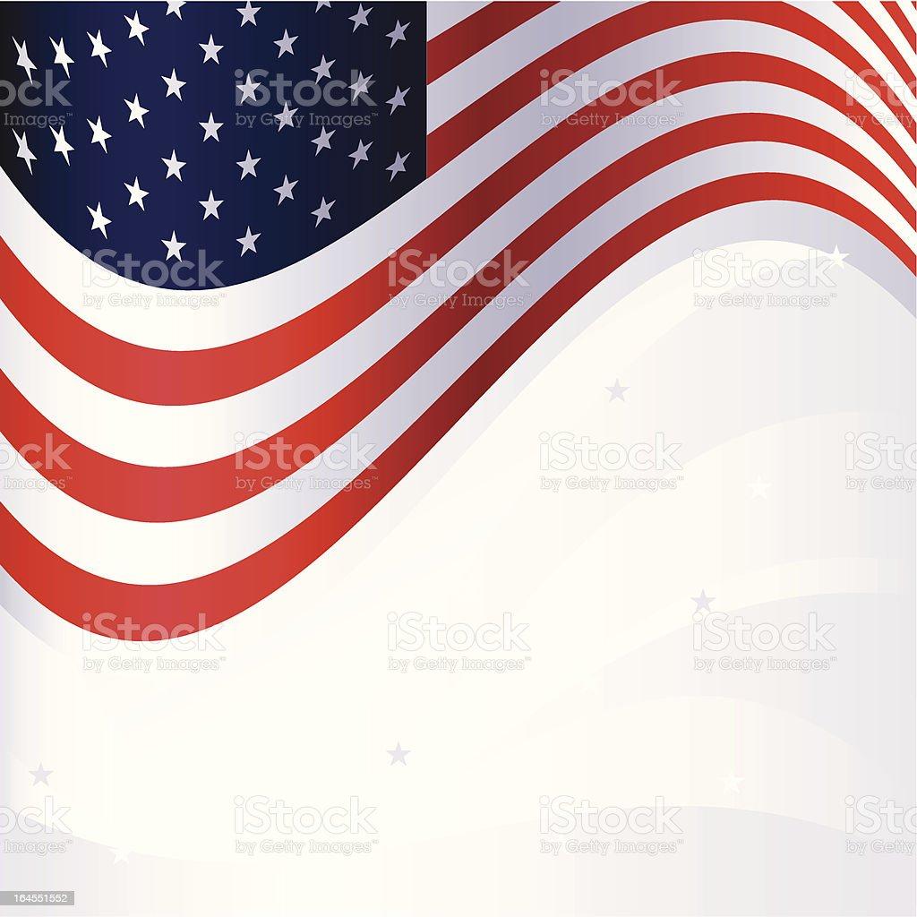 American patriotic background royalty-free stock vector art