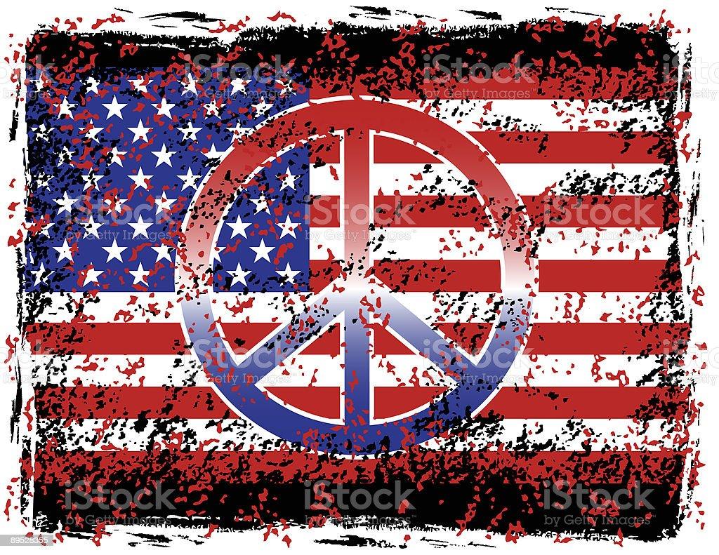 American Peace royalty-free stock vector art