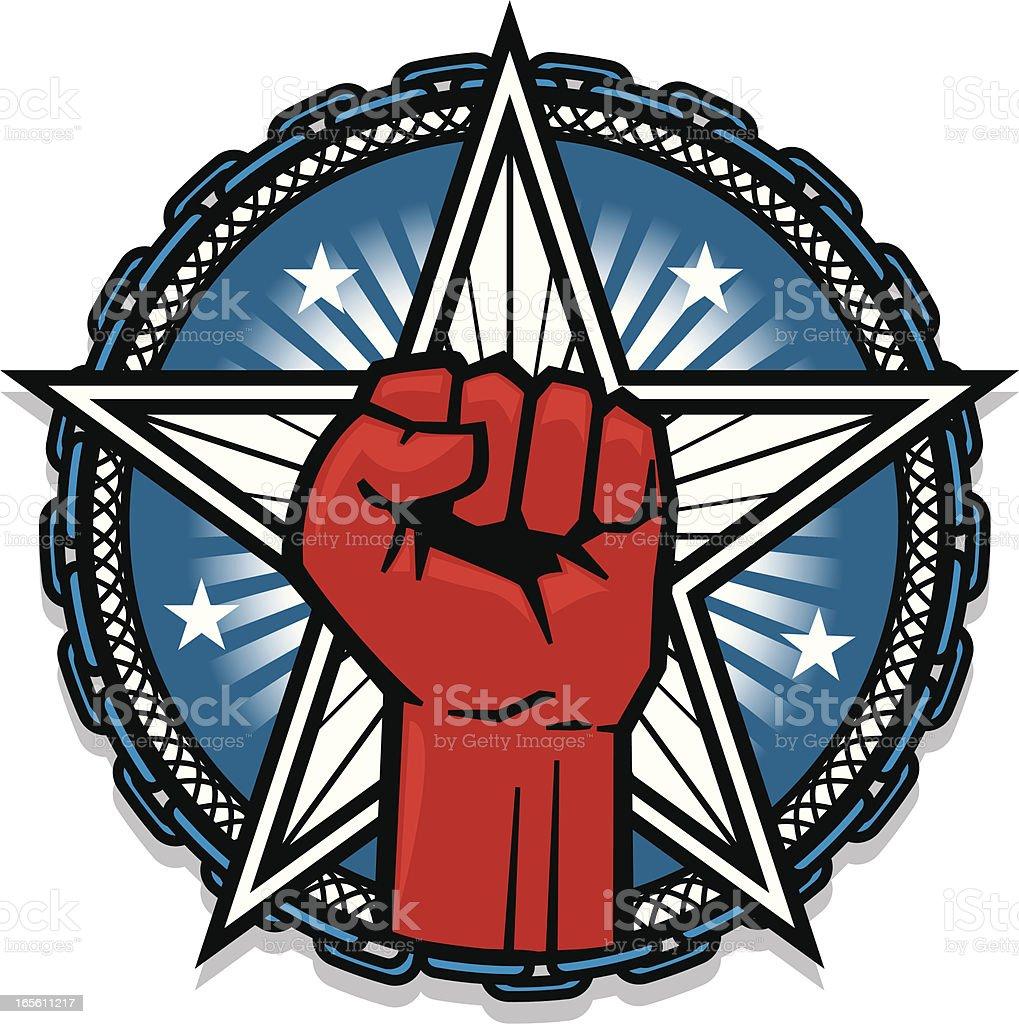 american revolution vector art illustration
