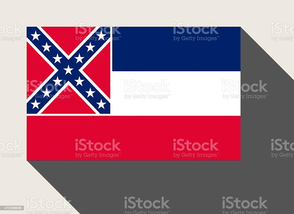 American State of Mississippi flag vector art illustration