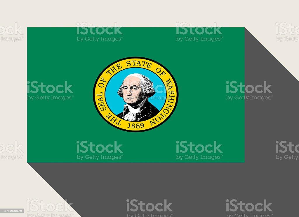 American State of Washington flag vector art illustration