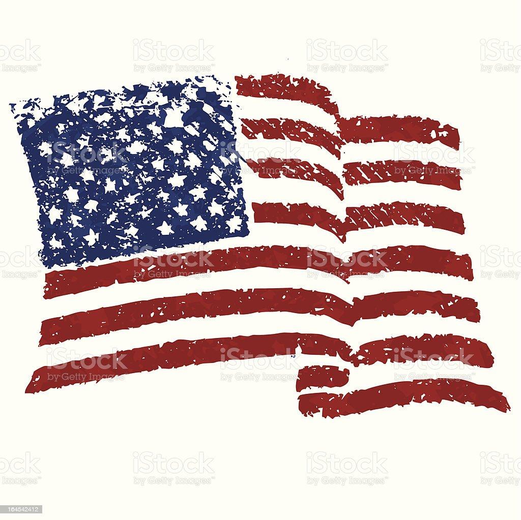 American Stencil royalty-free stock vector art