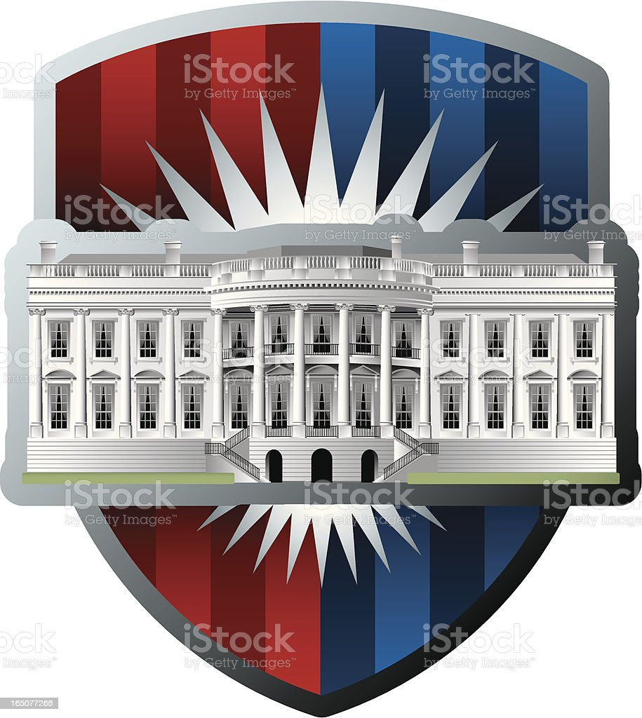 american white house royalty-free stock vector art
