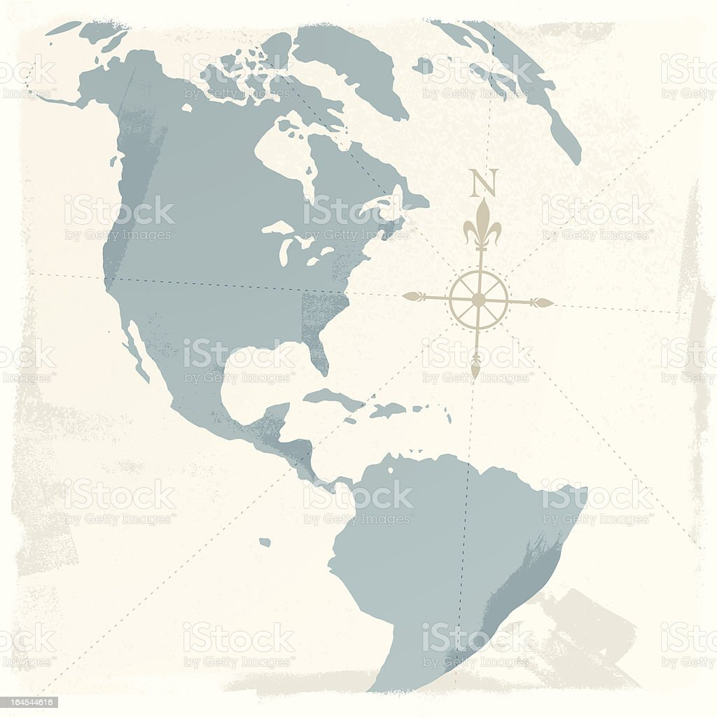 Americas Map vector art illustration