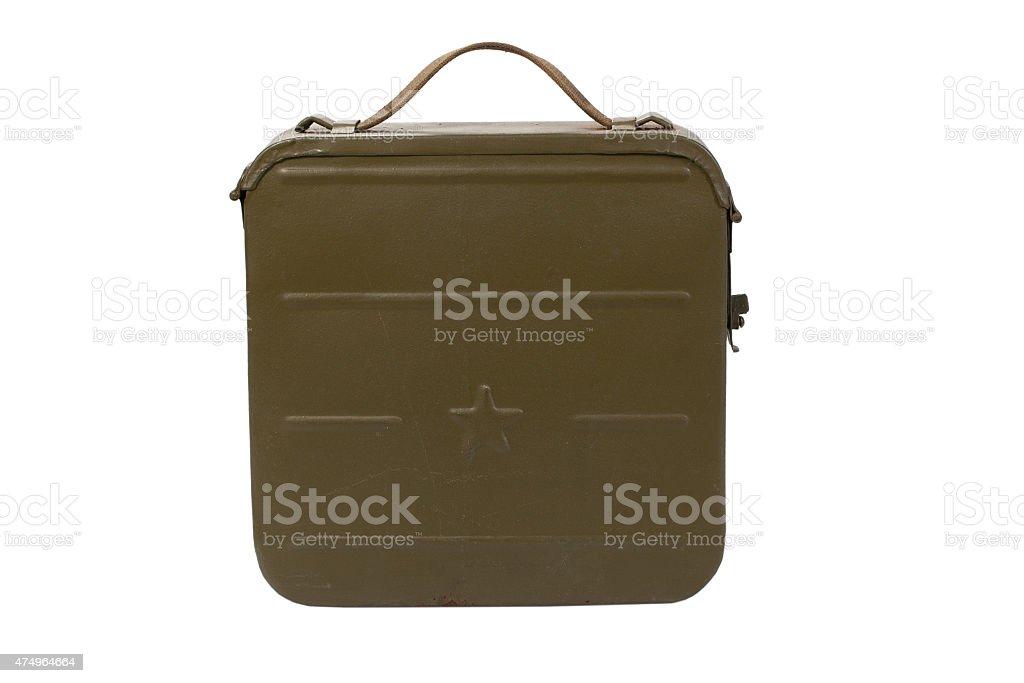 ammo case on white background vector art illustration