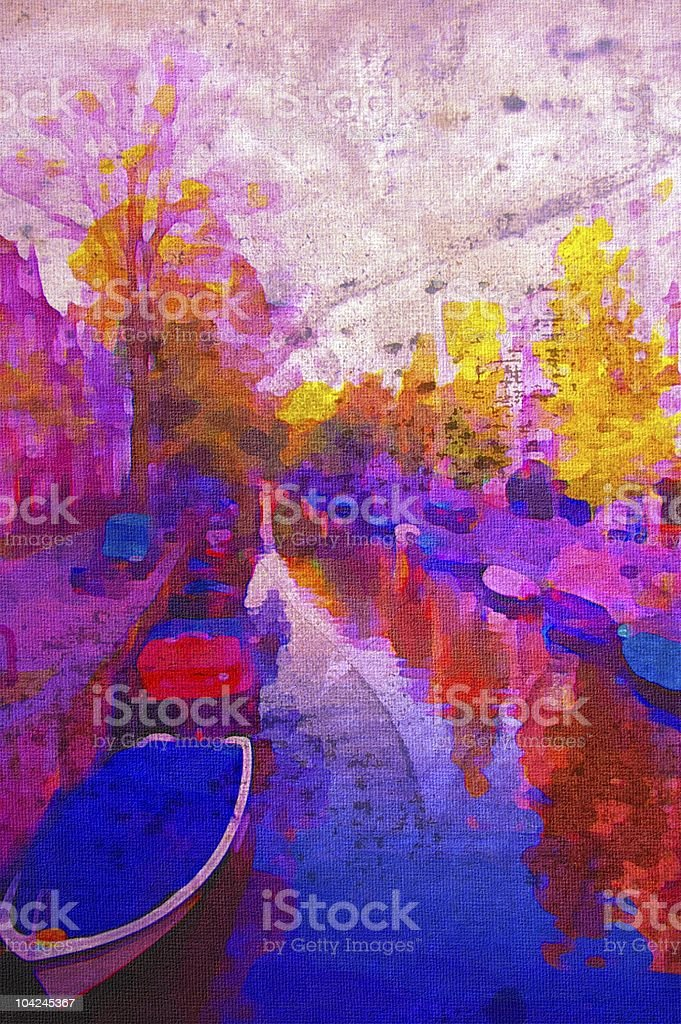 amsterdam canal royalty-free stock vector art