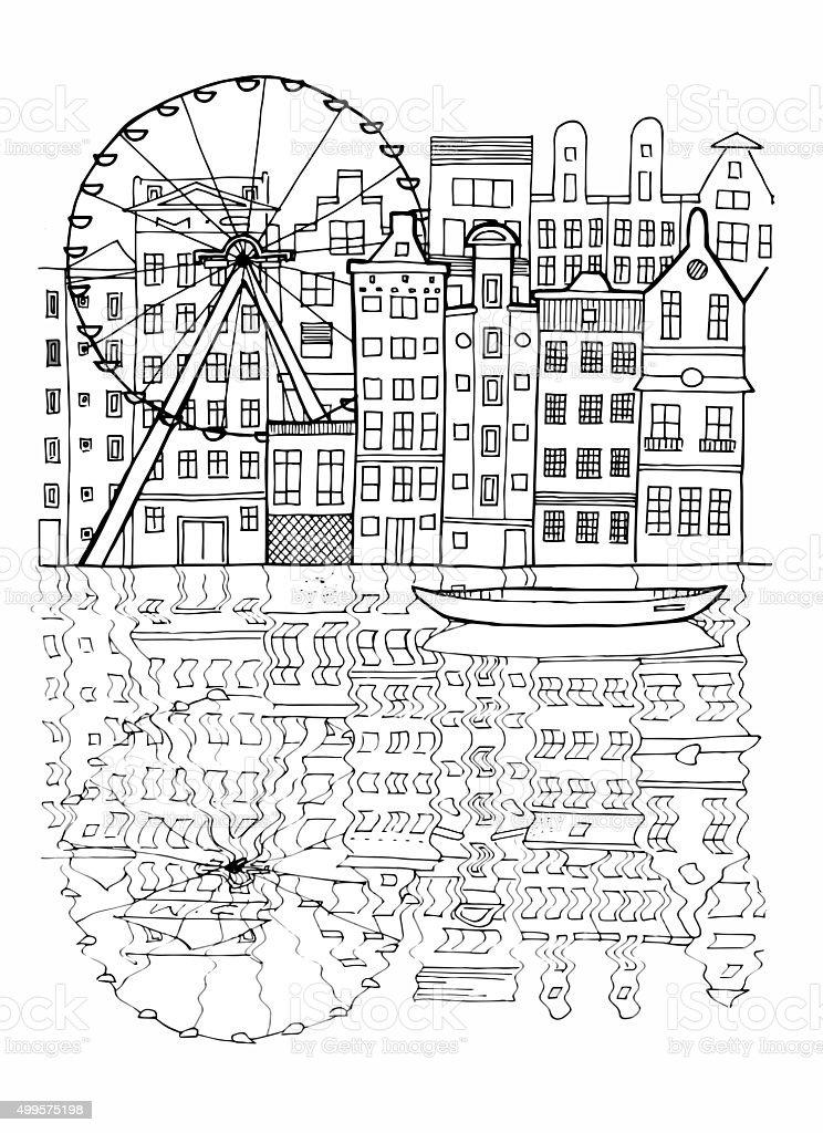 Amsterdam Illustration vector art illustration