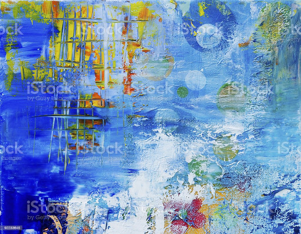 An abstract painted background in blue royalty-free stock vector art