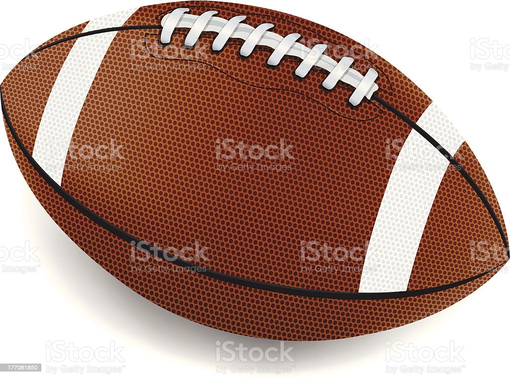 An illustration of a football on a white background vector art illustration