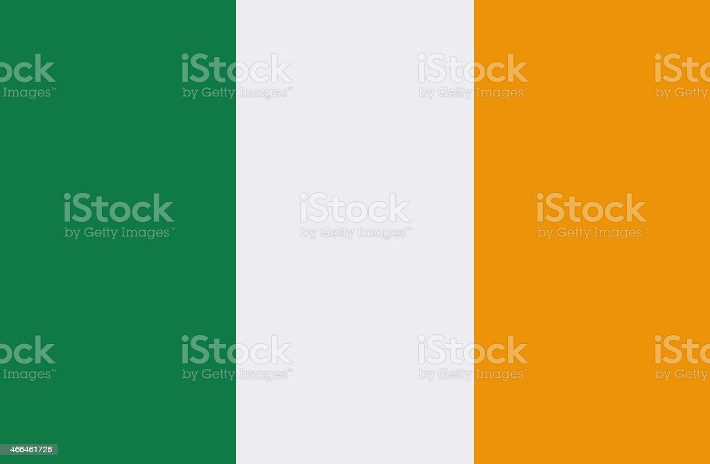 An illustration of the Irish flag with green, white & yellow vector art illustration