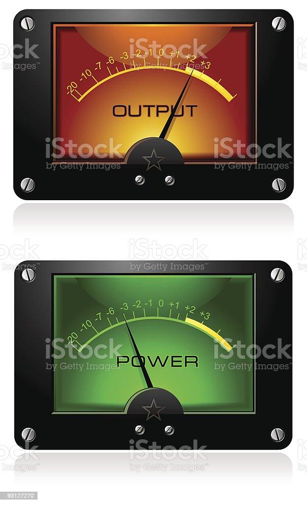 Analog Electronic Signal Meter royalty-free stock vector art