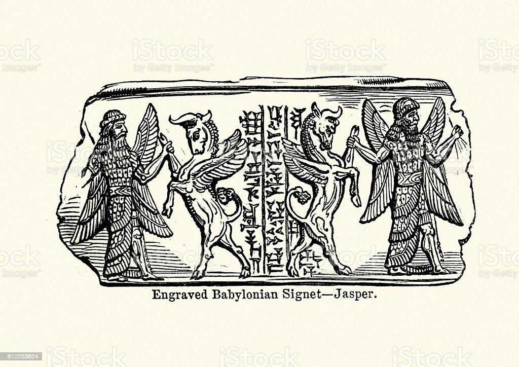 Ancient Babylonian Art vector art illustration