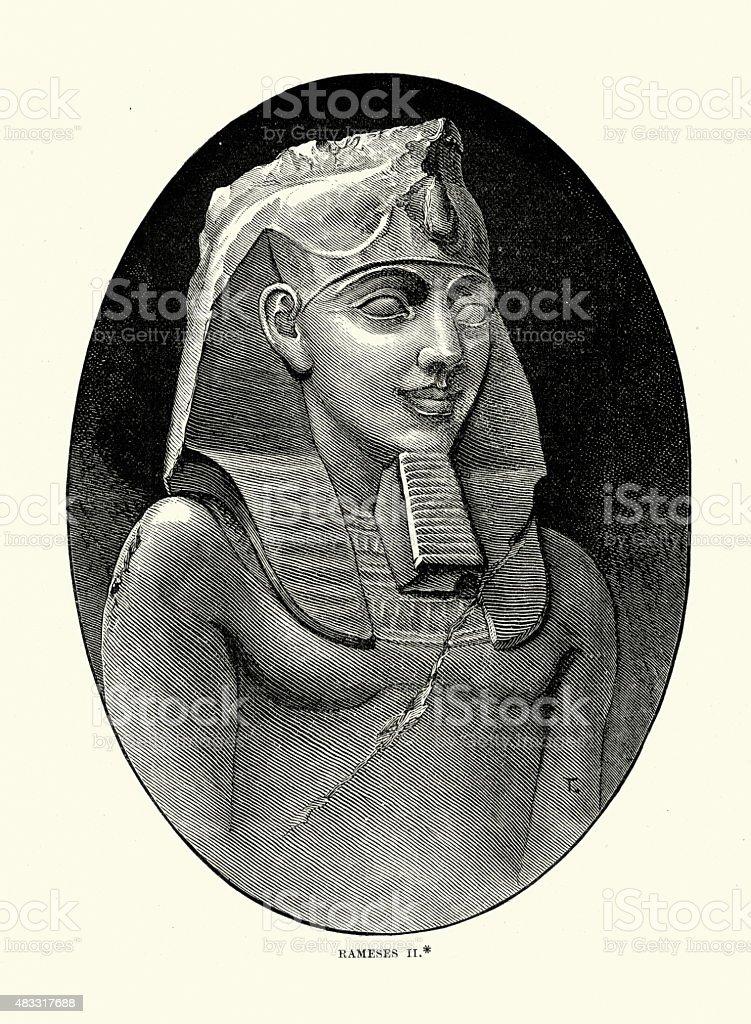Ancient Egypt - Ramesses II vector art illustration