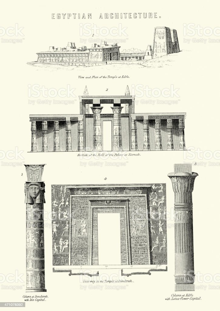 Ancient Egyptian Architecture vector art illustration