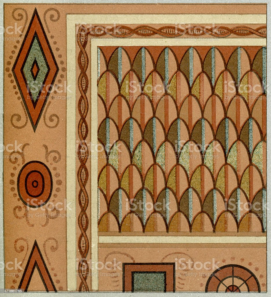 Ancient Egyptian Pattern royalty-free stock vector art