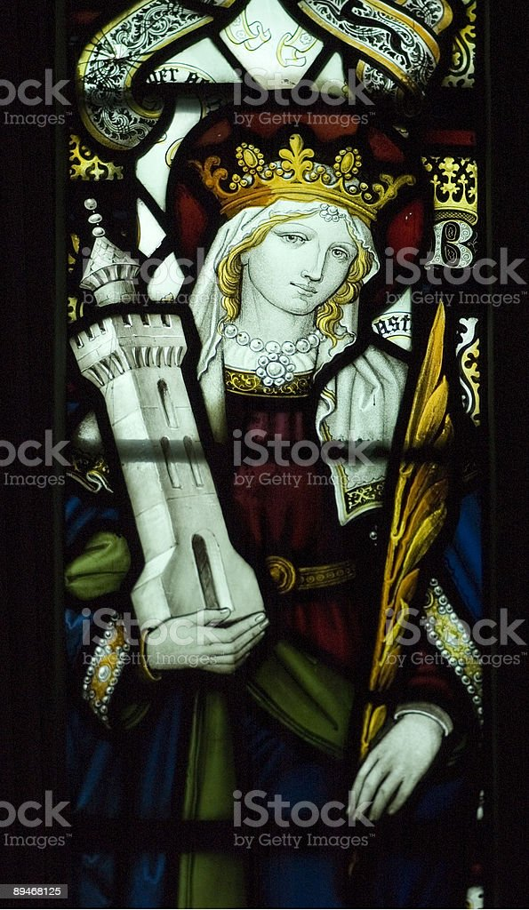 Ancient English Church Stained Glass royalty-free stock vector art