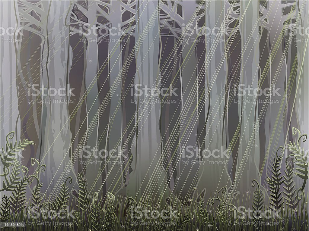 Ancient forest royalty-free stock vector art
