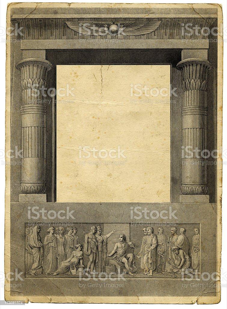 Ancient gateway royalty-free stock vector art