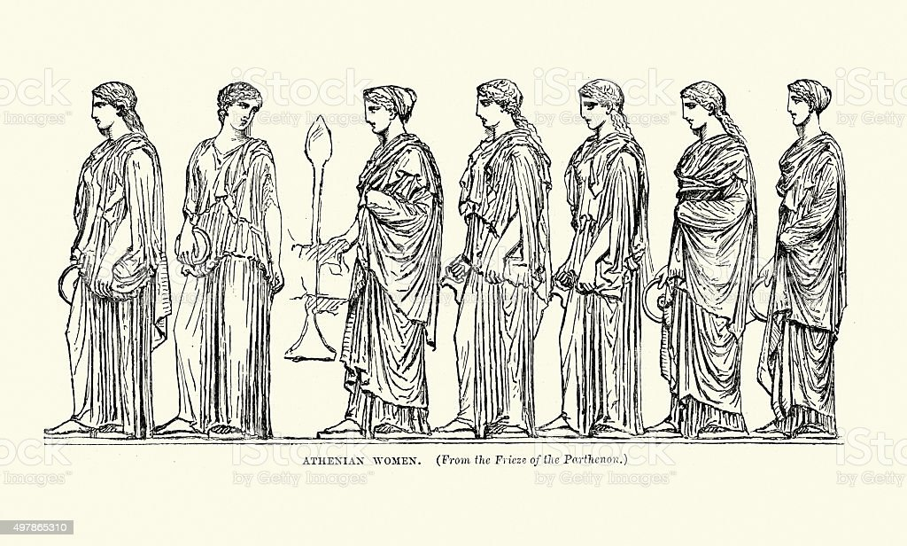 Ancient Greece - Athenian Women vector art illustration