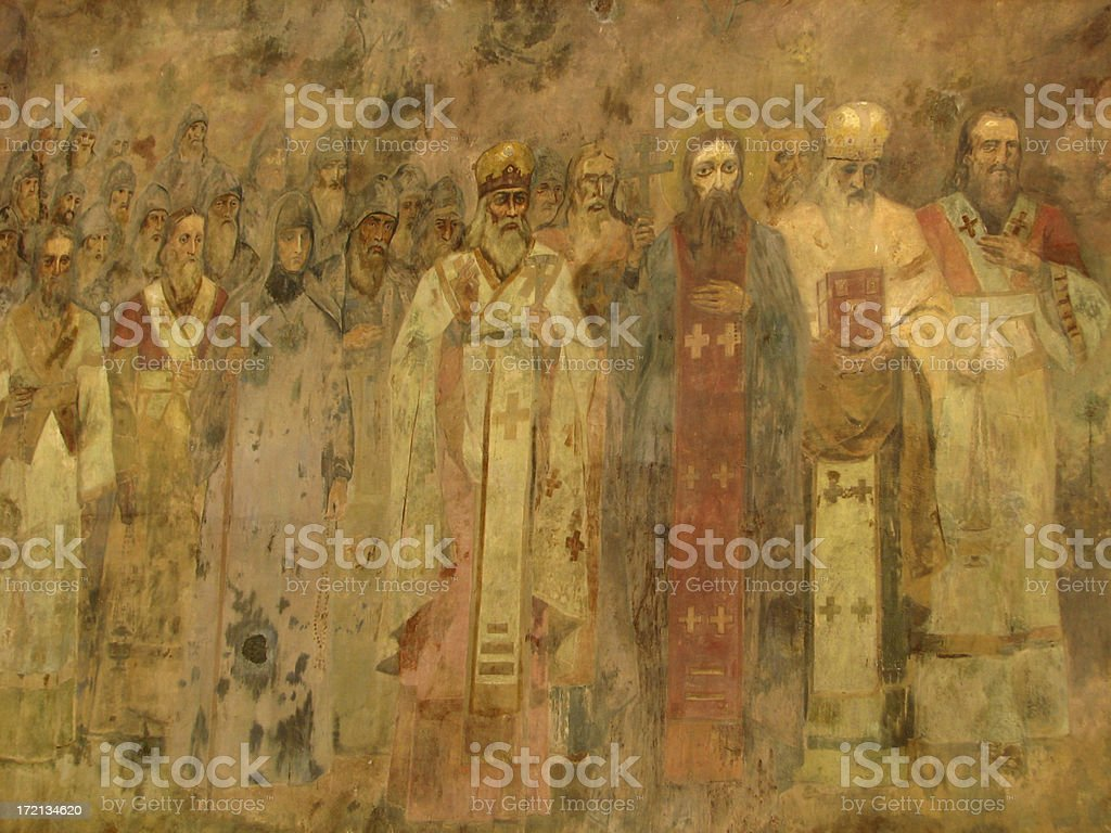 Alte Orthodoxe Gemälde in Kiew, Sofia Lizenzfreies vektor illustration