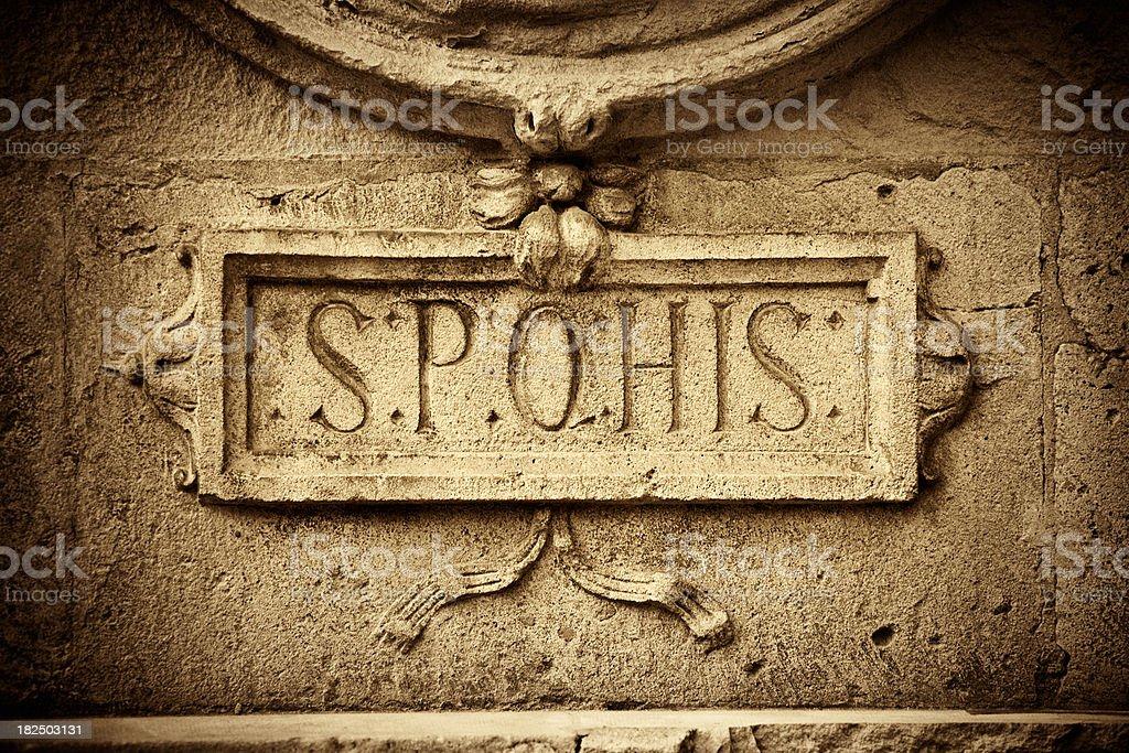 Ancient Roman Latin vector art illustration