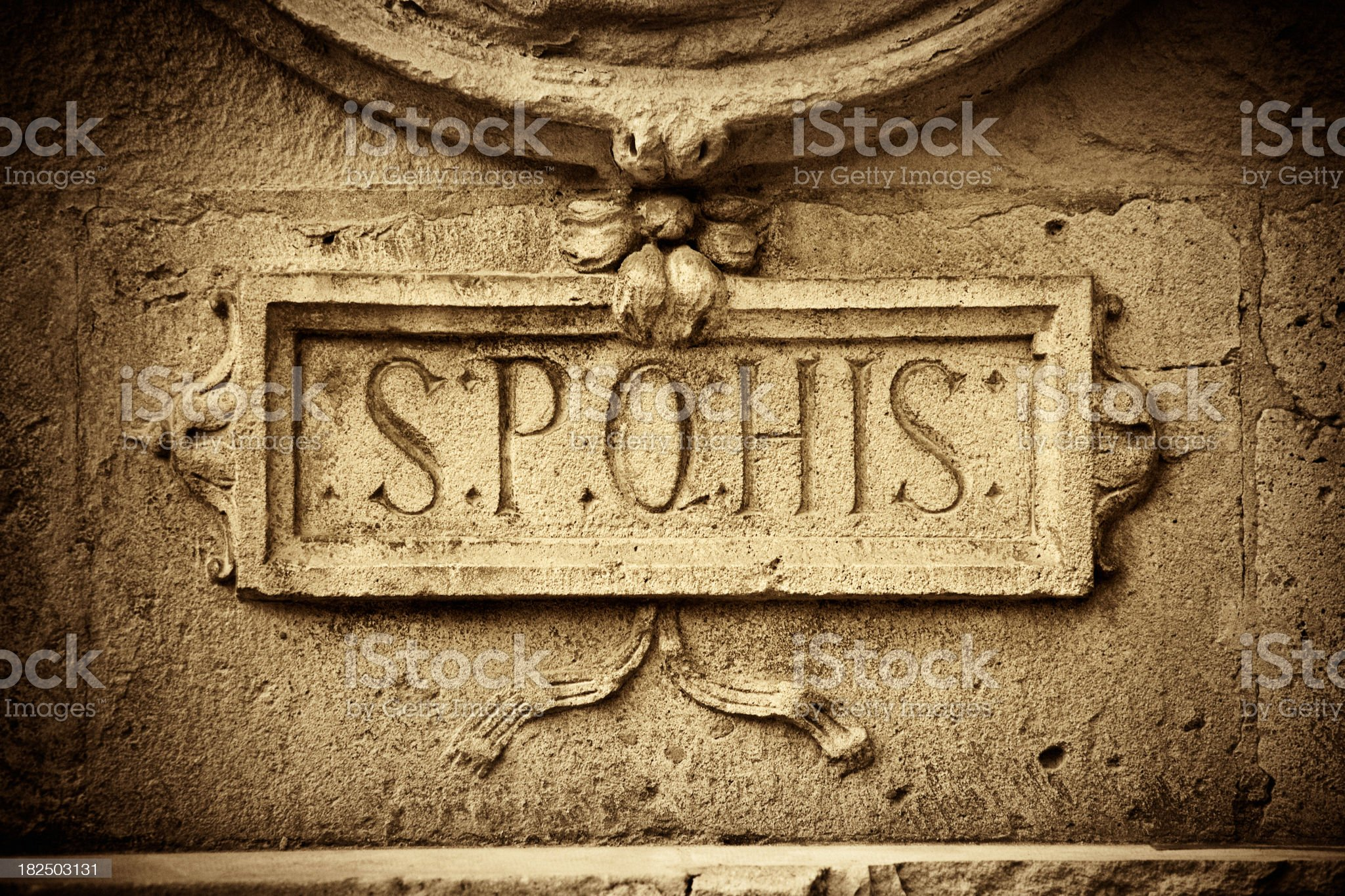 Ancient Roman Latin royalty-free stock vector art