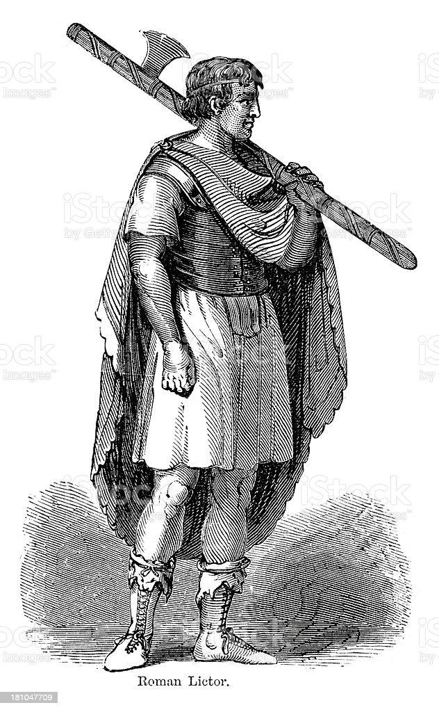 Ancient Roman Lictor royalty-free stock vector art