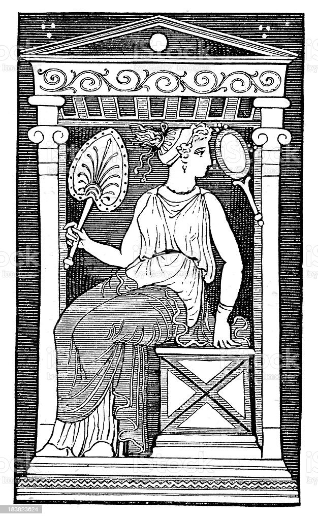 Ancient Roman Noblewoman vector art illustration