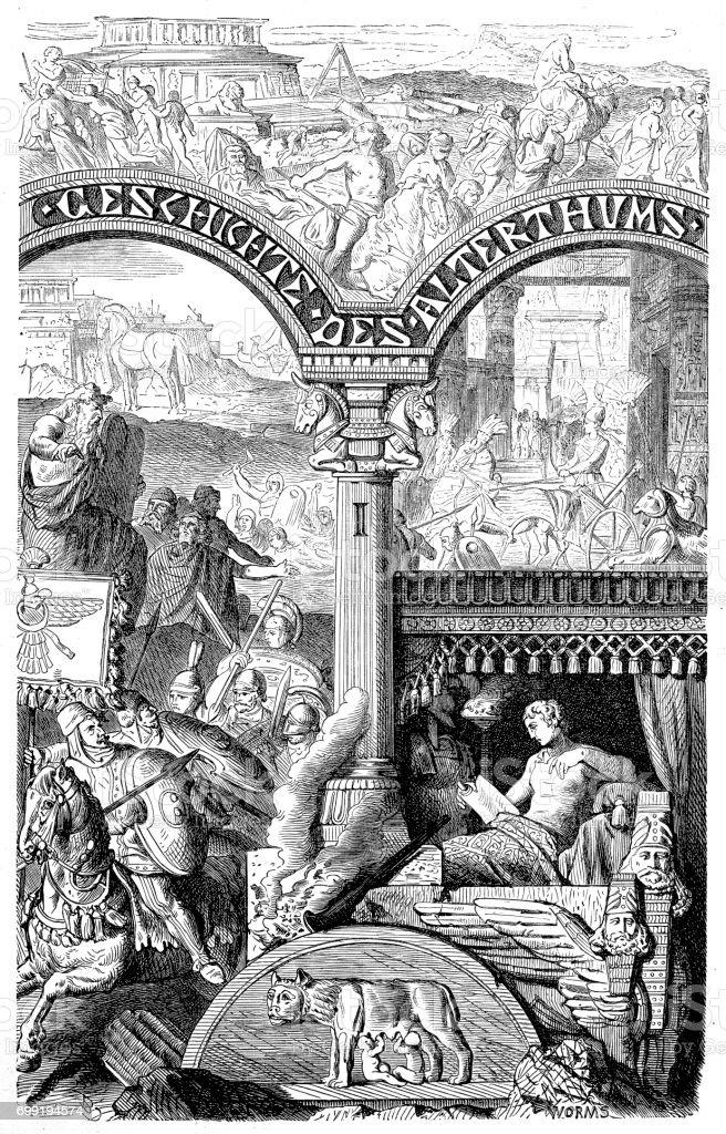 Ancient Rome vector art illustration