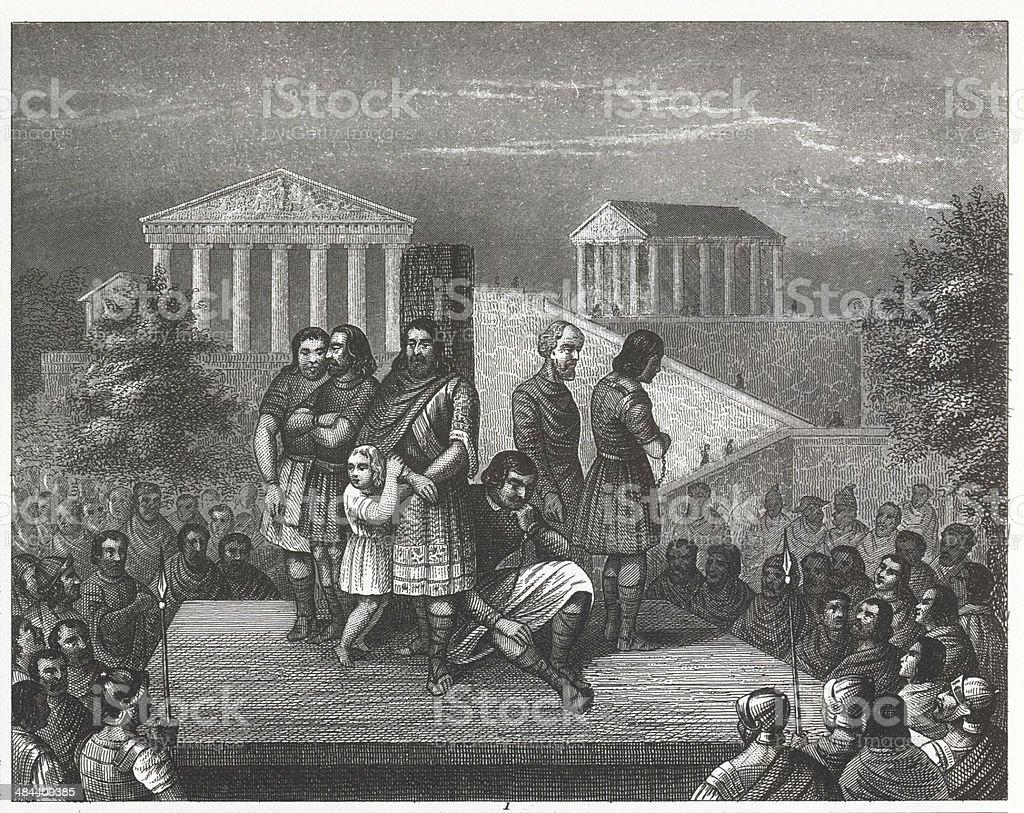 Ancient Rome--Slaves vector art illustration