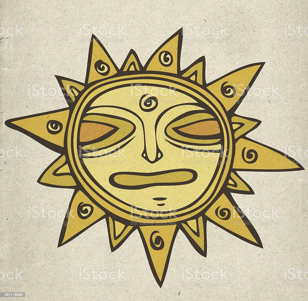 Ancient sun royalty-free stock vector art