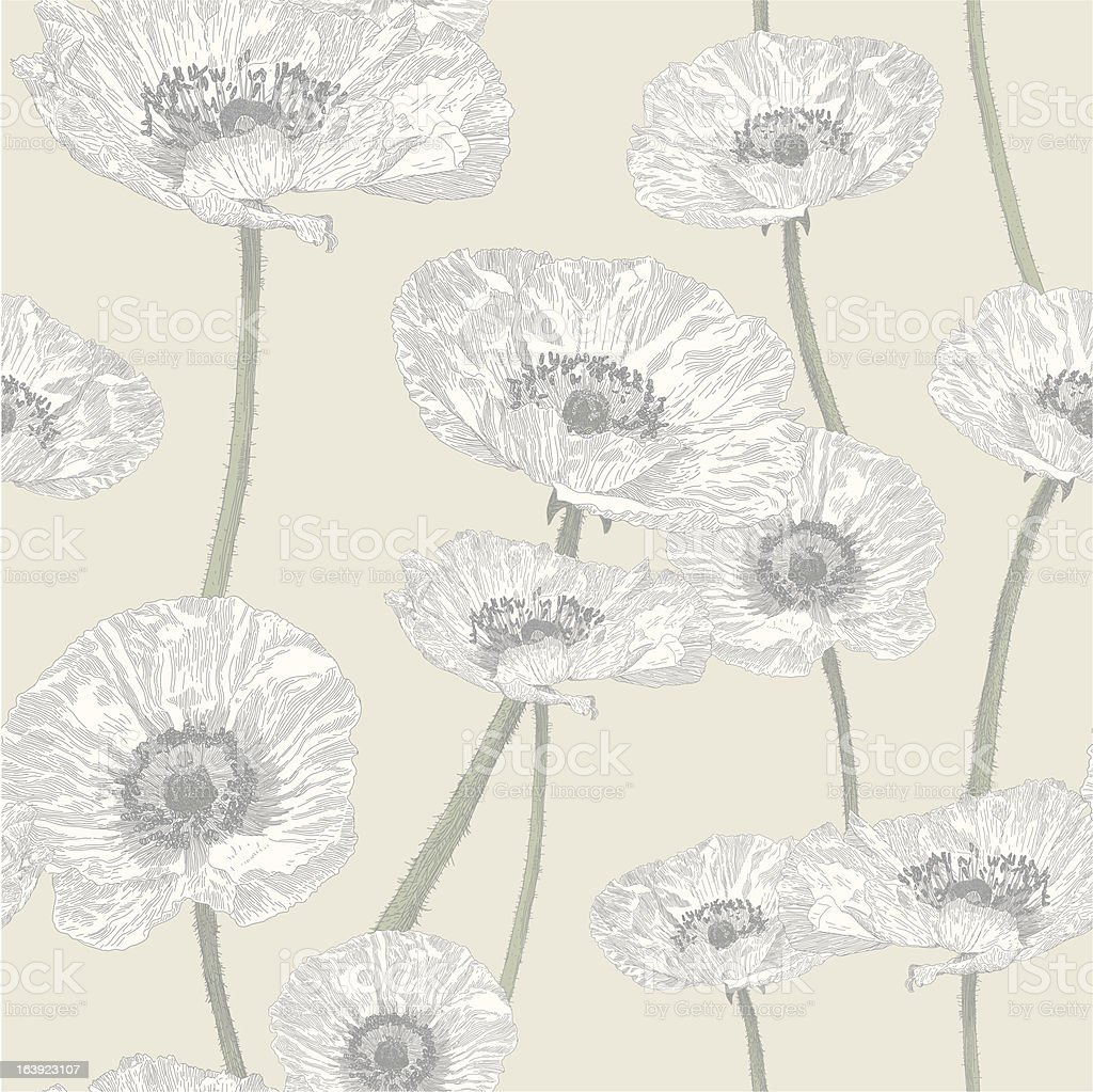 Anemone Seamless Repeat vector art illustration