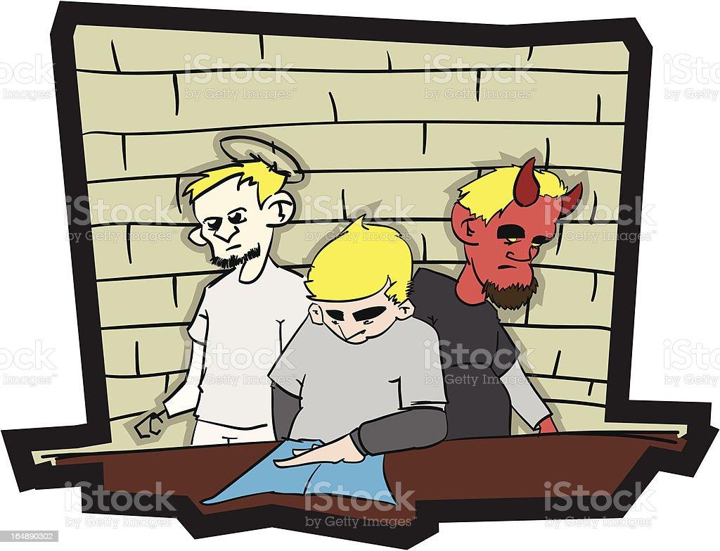 Angel & Devil royalty-free stock vector art