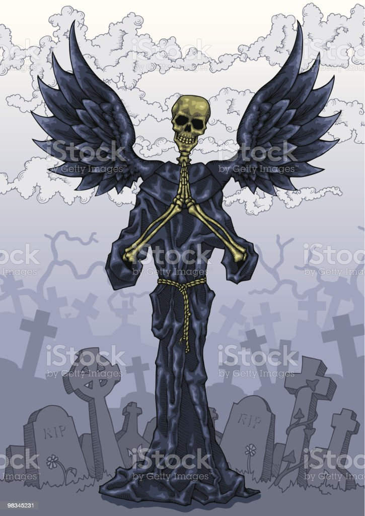 Angel Of Death royalty-free stock vector art