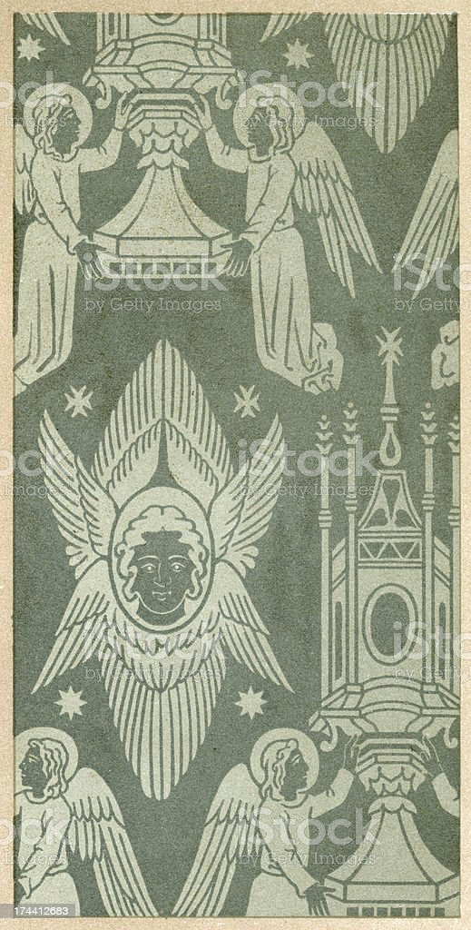 Angel Pattern royalty-free stock vector art