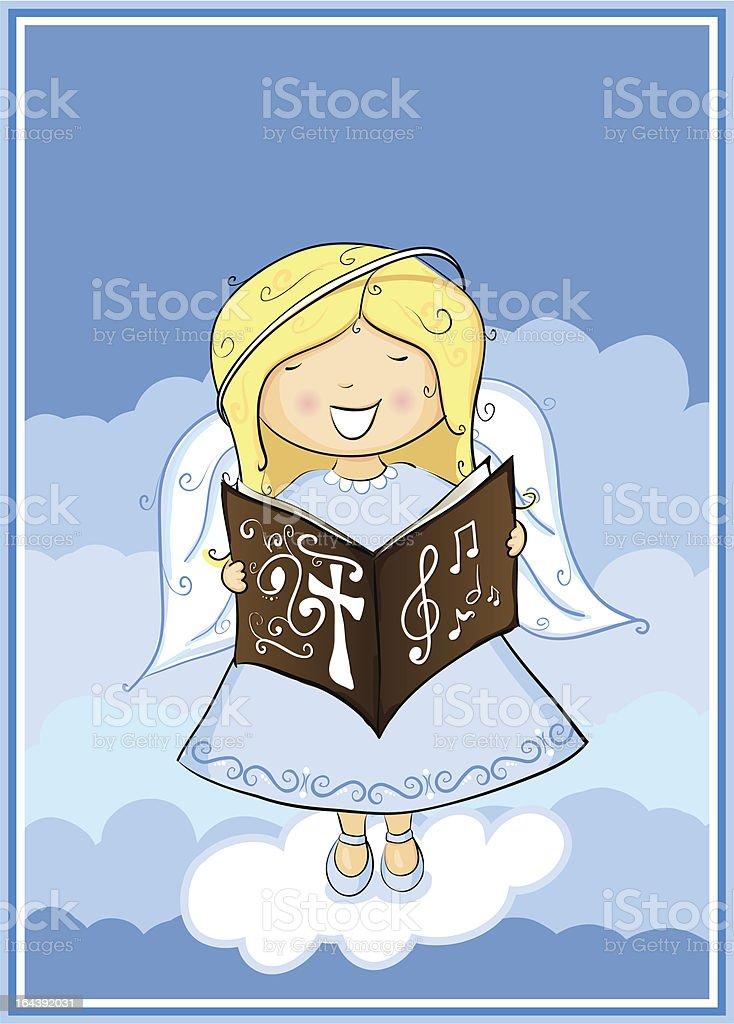 Angel singing royalty-free stock vector art