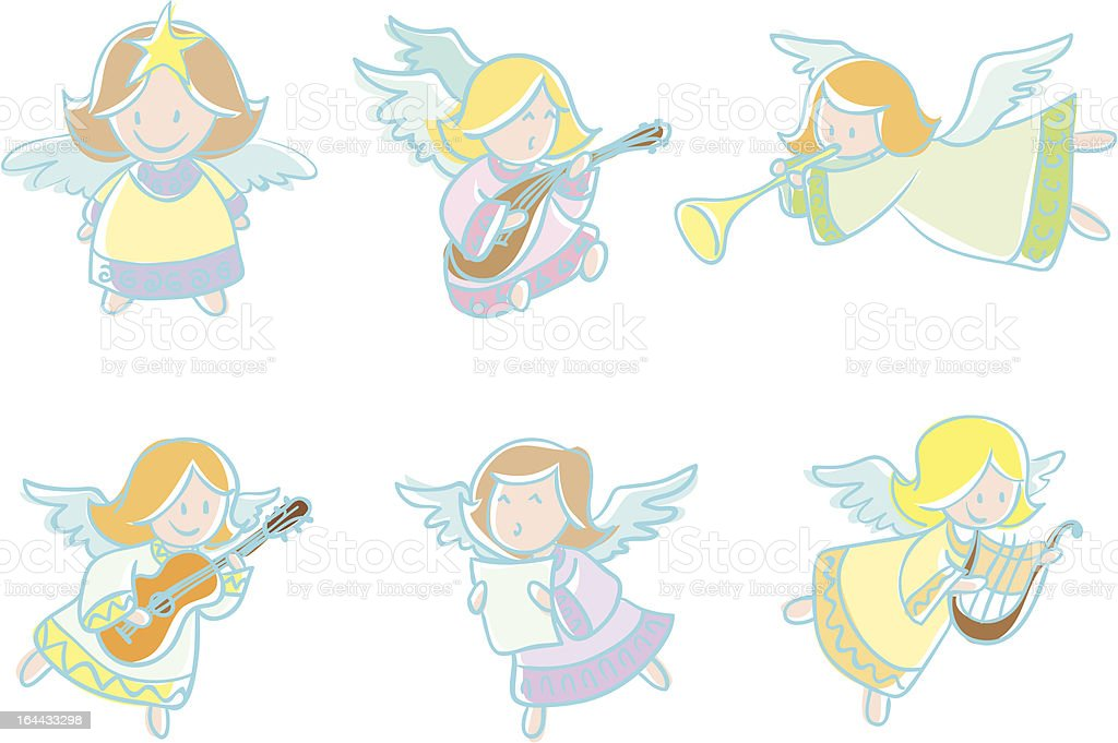 Angels royalty-free stock vector art