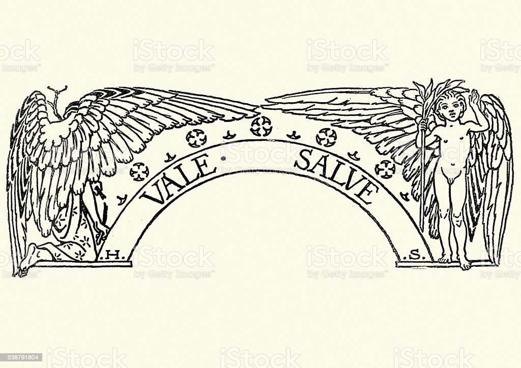 Angels - Vale Salve vector art illustration