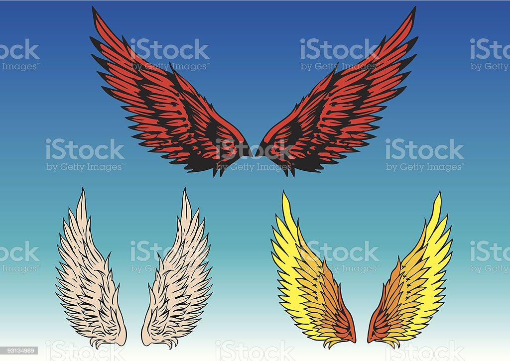 angelwings royalty-free stock vector art